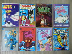 Underground Comics - Mean Bitch Thrills, Motor City Comics, Ditko's Mr. A, Mr. Natural, Serious Comics, Peep Show, Tales from the Leather Nun and more - 41x sc - (1971 / 1993)