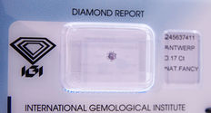 0.17 ct Natural fancy light pink diamond with IGI certificate