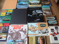 Lot containing nice automobile books including Aston Martin, Lincoln, Mercedes-Benz, Rallyes & Races