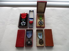 France - Set of 5 Knight orders and medals