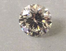 2.14 ct Round brilliant - cut diamond natural J SI2