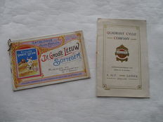 Quadrant Cycle and Groote Leeuw -Original old bicycle folders - 1920's