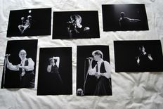 David Bowie,  a set of 7 live-photos 1976 - 1983 20 x 30 cm