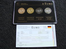 Germany - 2 Euro 2014 Niedersachsen 'Precious Metals' (4 different) in set