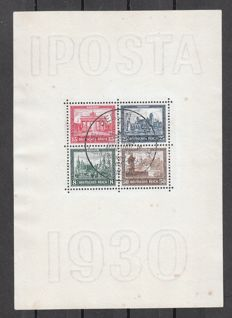 German Empire/Reich 1930 – postage stamp exposition Iposta Berlin – Michel Block 1, inspected E