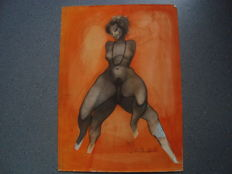 Original work; Sacha Chimkevitch - In doublet - 1980s