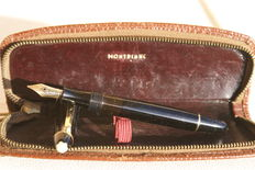 Vintage Montblanc 142 G Fountain Pen with its Leather Case
