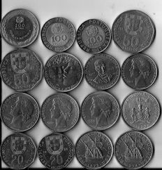 Portugal – 131 coins (all different) – 1796 to 1998