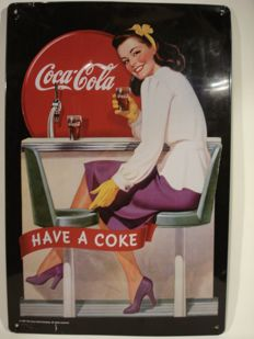 Coca Cola advertising sign - metal - Limited Edition - 1997