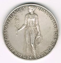 Germany, Third Reich - Silver Medal 1936 by K. Roth commmemorating the XI Olympic Games 1936 in Berlin