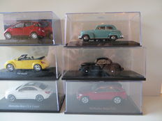 Minichamps/DeAgostini/Kyosho/Norev/BoS/Schuco - Scale 1/43 - Lot with 6 German models