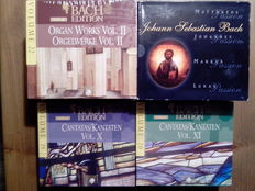 Lots of 9 Classical Boxes, Bach ‎– Cantatas/Kantaten Vol. X and Vol. XI, Bach Hans Fagius ‎– Organ Works Vol. II / Orgelwerke Vol. II, Bach - Matthaeus Passion, Sebelius Symphonies Valse Triste the Swan of Tuonela, Renaissance - Masterpeices, Elias • Paul