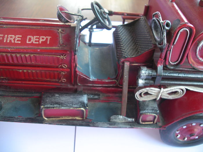 Vintage fire department car style 1930  Length 39 cm  Height