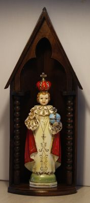 Porcelain statue of the infant of Prague