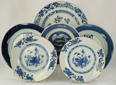 Collection of six plates - China - 18th century.