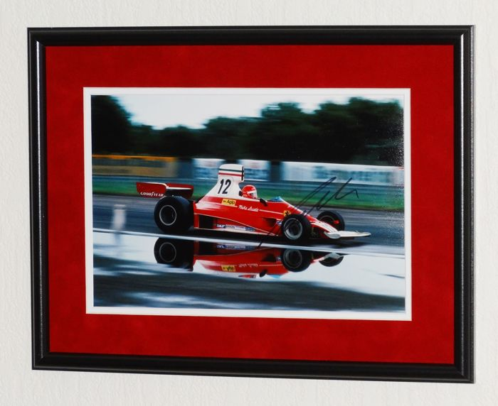 Niki Lauda original signed Photo - Premium Framed + Certificate of Authenticity