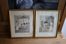 Graph; Lot with 2 erotic prints by Edgard Tytgat-1940s