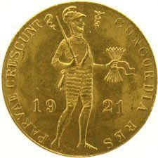 The Netherlands – ducat 1921, Wilhelmina, gold.