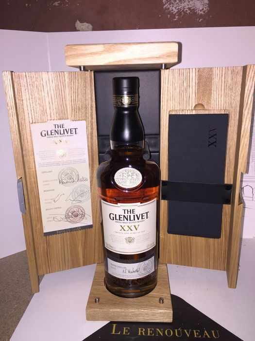 Glenlivet 25 years old XXV - Original bottling - 0.7 Ltr