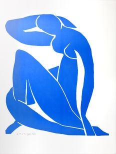 Henri Matisse  (after)- Nu Bleu II (Blue Nude II)