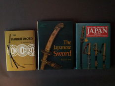 "Three books: ""Military Swords of Japan"", by Fuller and Gregory, ""The Samurai Sword"", by Yumoto, ""The Japanese Sword"", by Kanzan Sato."