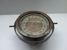 Old compass made from copper and steel