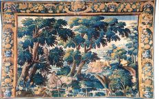 A Franco/Flemish Landscape tapestry - probably Oudenaarde - late 17th century