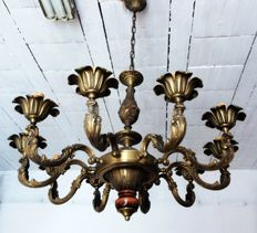 Brass chandelier - Italy - 20th century