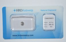 0.21 ct brilliant cut diamond, RW+(F), VS1