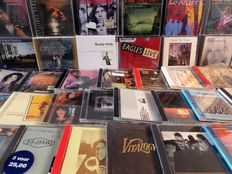 Classic Rock and Pop – Lot of 40 CD's or CD-boxes with Pearl Jam, U2, Eagles, Prince, Editors, Leonard Cohen, Def Leppard and many others.