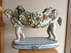 Large porcelain ornamental bowl - with angels