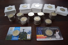 Europe - 2 Euro, occasion coins 2006/2017 (108 pieces).