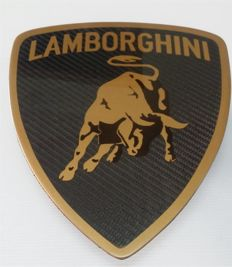 Lamborghini Logo Badge in Carbon Fiber