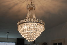 Chandelier set with cut glass crystals, Netherlands, 21st century