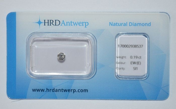 0.19 ct brilliant cut diamond, EW(E), SI1