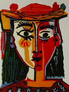 Pablo Picasso (after) - Bust of a woman