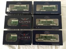 "Liliput H0 - 224614/224613 - 6 four-axle tank cars ""Makies AG"" of the SBB"