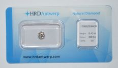 0.42 ct brilliant cut diamond - RW(G) - SI1