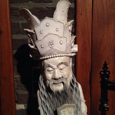 Very large sulpture of Luk, made of ivory - China - Ca. 1920