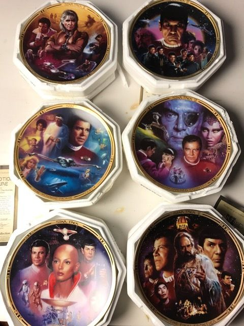6 Star Trek - collector plates