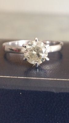Solitaire diamond ring of 1.14 ct - Size: 52/53