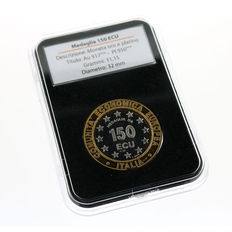 Italy – IPZS (State Mint and Polygraphic Institute) – EEC Medal – 150 ECU in gold and platinum