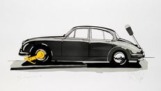 Jaguar Mk II with the Yellow Earing. Limited silkscreen by Karel Lijbrink from 1988
