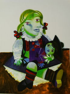 Pablo Picasso (after) - Maya with Doll