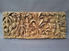 Woodcarving, Garuda, Shiva in a palm tree forest – Bali – Indonesia
