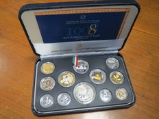 "Republic of Italy - 1998 ""Bernini"" divisional series, proof (including silver)"