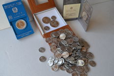 Italy, Republic – lot of 204 coins, including silver