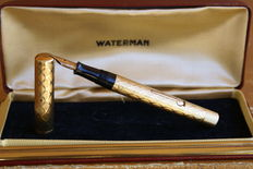 Exceptional Vintage Solid 18K Gold Waterman Lady Fountain Pen from 1925