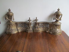 A few bronze fireplace attachments in Louis XVI style - France - 19th century