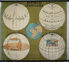 Map of meridians and parallels